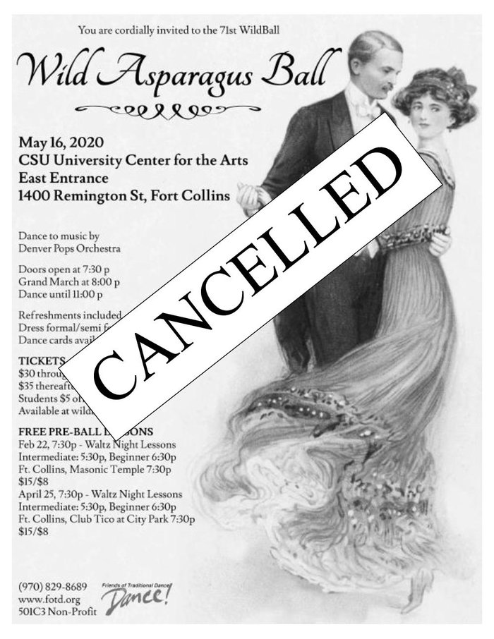 Wild Asparagus Ball - May 16 CANCELLED!
