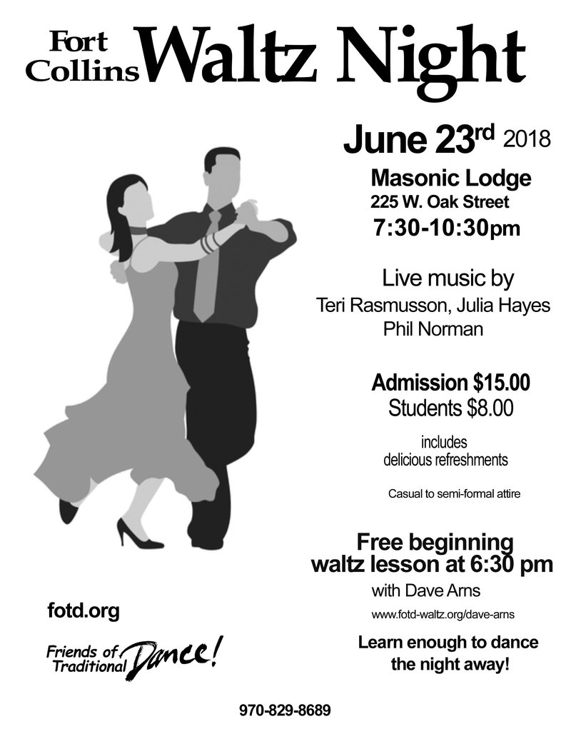 Waltz Night June 23, 225 W.Oak St.
